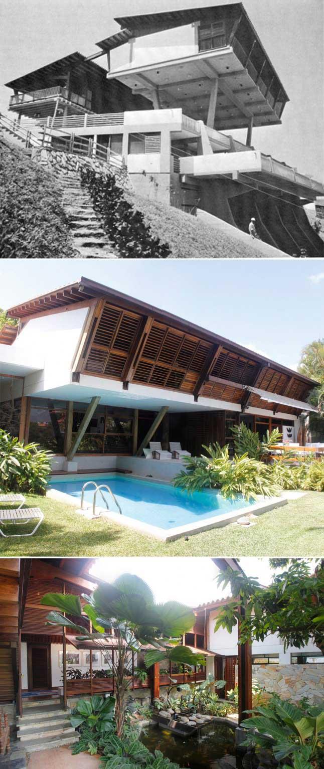 Fruto Vivas: quinta Café (1960) (y su precedente: casa en Playa Grande)