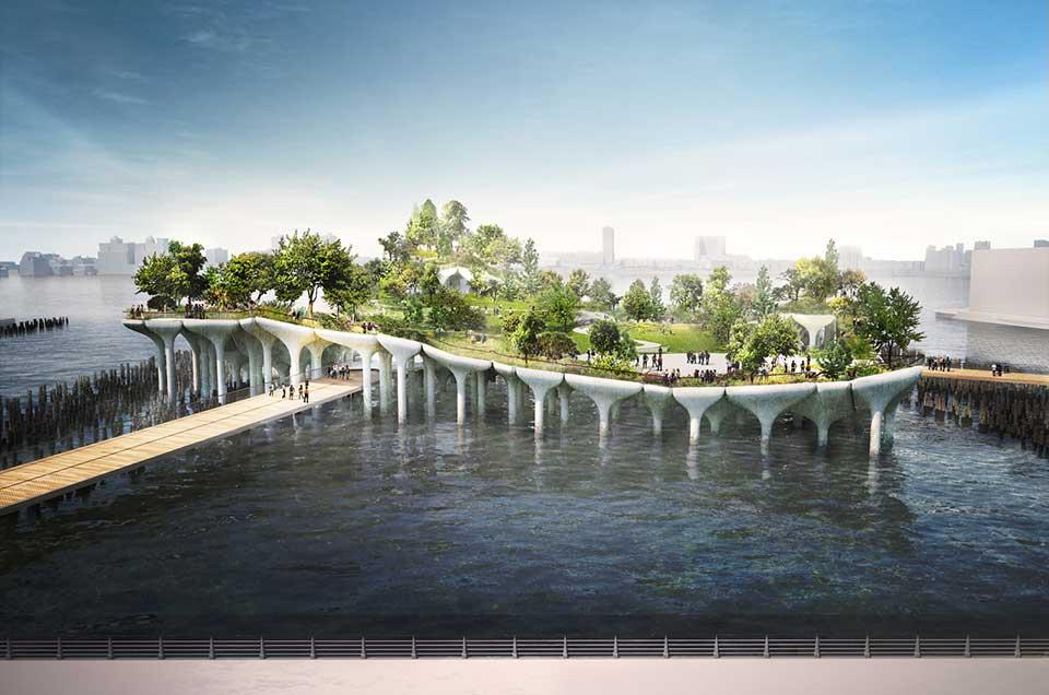 Aseguran fondos para retomar construcción de Pier 55, el nuevo parque flotante en Nueva York